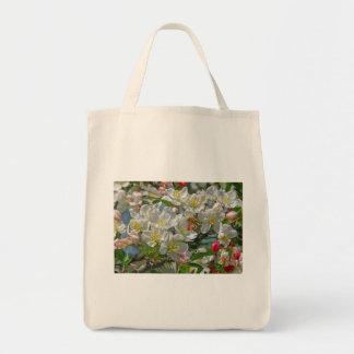 Flores y bolso de la abeja de la miel bolsas