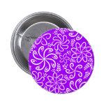Flores y botón púrpuras enrrollados de las hojas pin