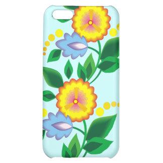 Flores y caja amarillas del monograma iphone4