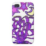 Flores y caja de las estrellas i4 iPhone 4/4S carcasa