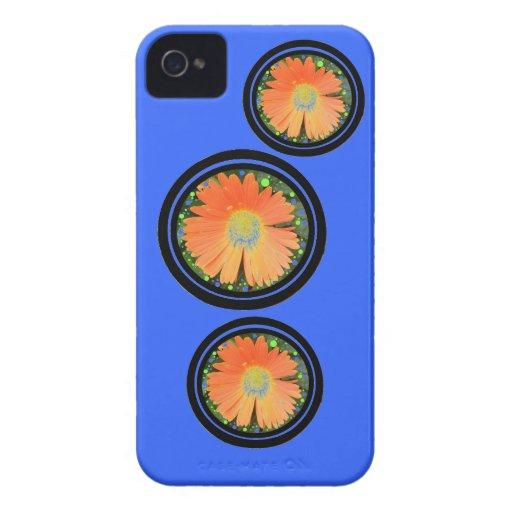 Flores y caso del iphone de los círculos iPhone 4 cárcasas
