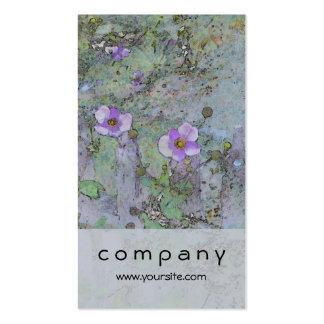 Flores y cerca vieja tarjetas de visita