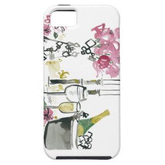 Flores y Champán de Dionisia Elnajjar iPhone 5 Funda