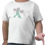 Flores y cinta camiseta