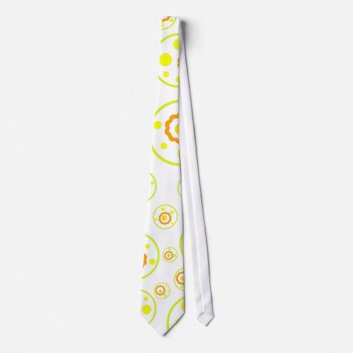 Flores y círculos - lazo corbata personalizada
