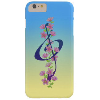Flores y Clef agudo Funda Para iPhone 6 Plus Barely There