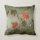 Flores y colibríes de la pasión de Martin J Heade Almohada