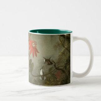 Flores y colibríes de la pasión de Martin J Heade Taza De Café