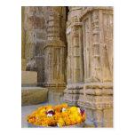 Flores y columnas, fuerte de Jaisalmer, Jaisalmer, Postal