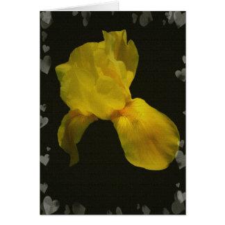 Flores y corazones amarillos Csrds Tarjeta De Felicitación