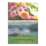 Flores y cumpleaños de la niebla 65.o