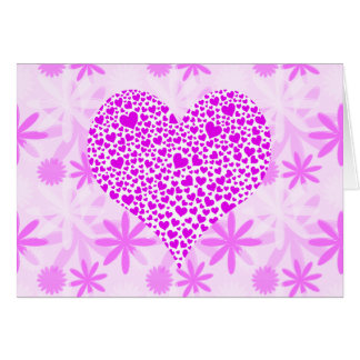flores y el día de San Valentín de los corazones Tarjeta De Felicitación