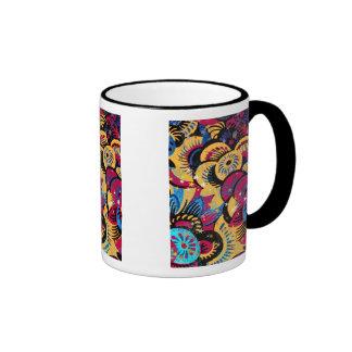 Flores y estrellas taza de café