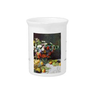Flores y fruta Claude Monet 1869 Jarras De Beber