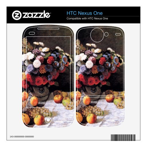 Flores y frutas de Claude Monet Calcomanías Para HTC Nexus One