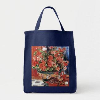 Flores y gatos - arte impresionista - Renoir