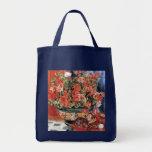Flores y gatos - arte impresionista - Renoir Bolsas Lienzo