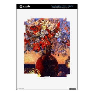 Flores y gatos de Eugène Enrique Paul Gauguin iPad 3 Pegatina Skin