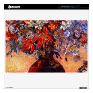 Flores y gatos de Eugène Enrique Paul Gauguin Skin Para El MacBook