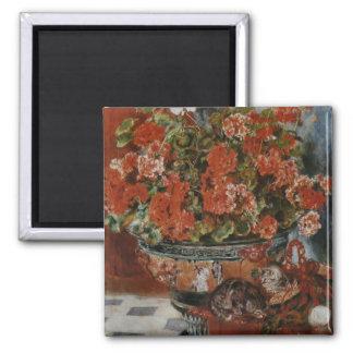 Flores y gatos (Fleurs y charlas) Renoir Iman De Frigorífico