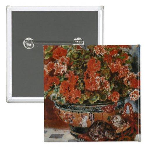 Flores y gatos (Fleurs y charlas) Renoir Pins