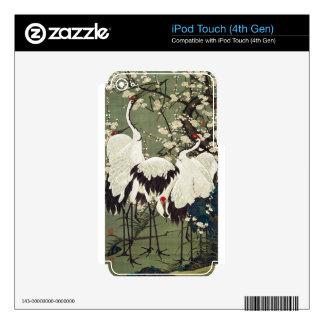 Flores y grúas del ciruelo de Ito Jakuchu iPod Touch 4G Calcomanías