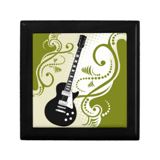 Flores y guitarra Giftboxes Caja De Recuerdo