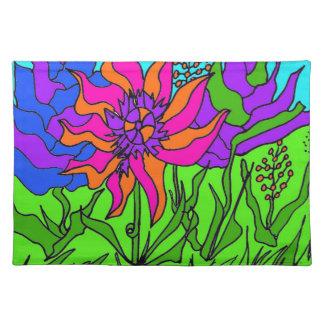 Flores y gusanos manteles