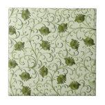 Flores y hojas azulejos ceramicos