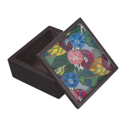 Flores y hojas de Deco Caja De Joyas De Calidad