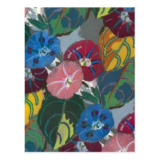 Flores y hojas de Deco Postal