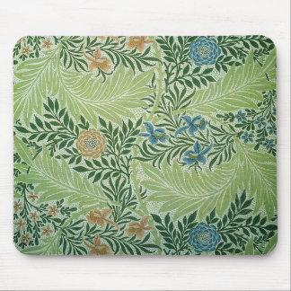 Flores y hojas Mousepad del verde