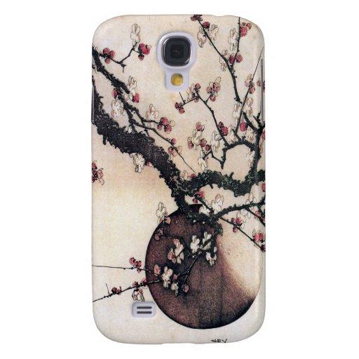 Flores y la luna, Hokusai del ciruelo
