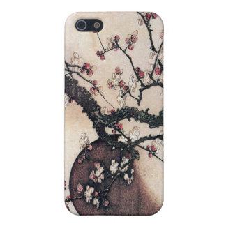 Flores y la luna, Hokusai del ciruelo iPhone 5 Protector