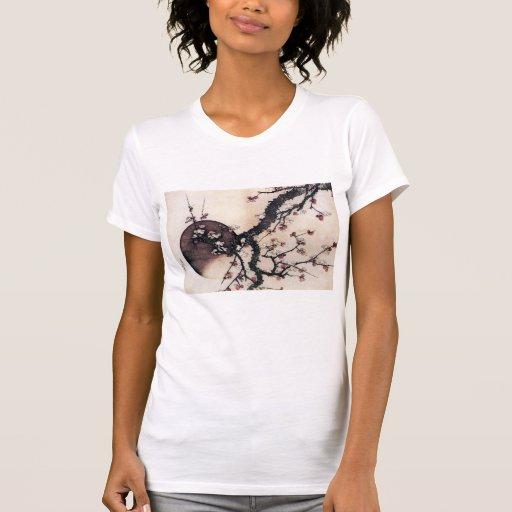 Flores y la luna, Hokusai del ciruelo T-shirts