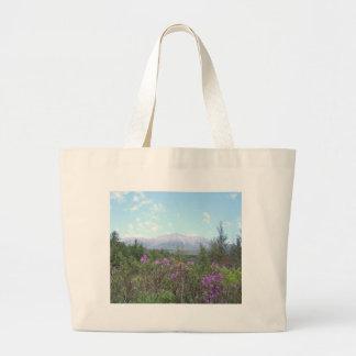 Flores y la montaña bolsa