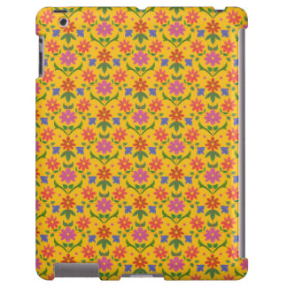 Flores y lunares bonitos en la caja amarilla del