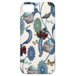 Flores y magdalenas azules iPhone 5 Case-Mate fundas