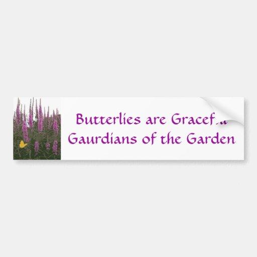 Flores y mariposa pegatina para auto