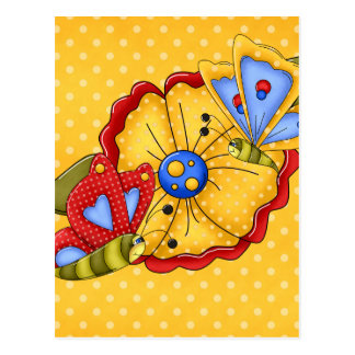 Flores y mariposas bonitas tarjetas postales