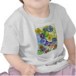 Flores y mariposas camiseta