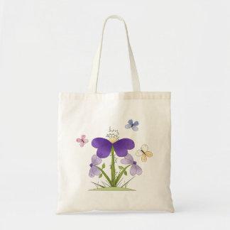Flores y mariposas del campo bolsas