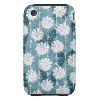 Flores y mariposas inspiradas iPhone 3 tough cárcasa