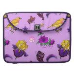 Flores y mariposas - pájaros y estrellas fundas macbook pro