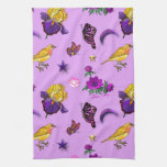 Flores y mariposas - pájaros y estrellas toallas de cocina
