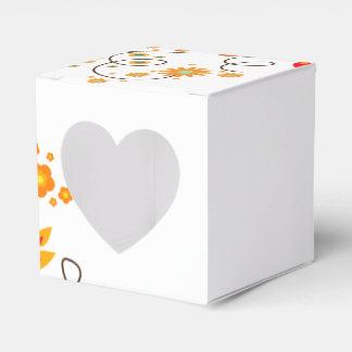 Flores y mariposas simples - caja de regalo del paquetes de regalo para bodas