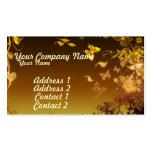Flores y mariposas tarjeta personal