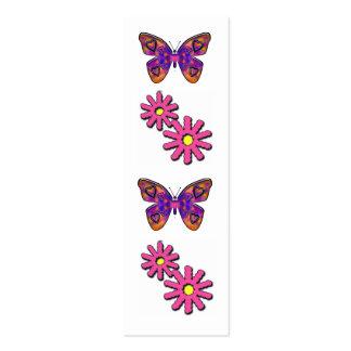 flores y mariposas tarjetas de visita