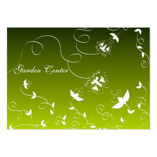 Flores y mariposas tarjetas de visita grandes