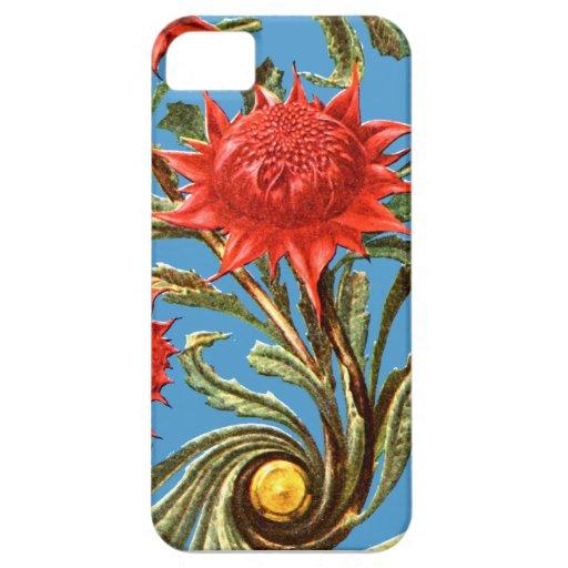 Flores y modelo brillantes del resplandor solar iPhone 5 protector